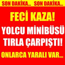 Turistleri taşıyan midibüs Kocaeli'de kaza yaptı! 10 yaralı
