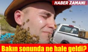 Yüzünü bilerek binlerce arıya sokturdu! Bakın sonunda ne oldu?