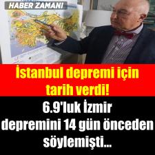 Büyük İstanbul depremi için tarih verdi