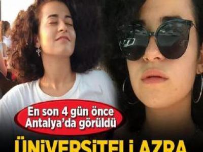 En son 4 gün önce Antalya'da görüldü