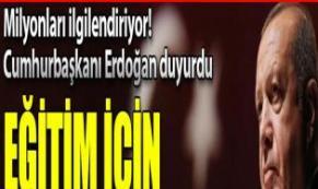Milli Eğitim Şûrası toplanıyor! Tarihi Cumhurbaşkanı Erdoğan duyurdu...