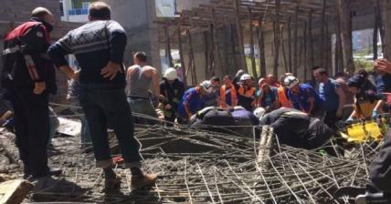 Samsun'da cami inşaatında kalıp çöktü: 3 Ölü!
