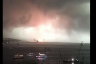 Haydarpaşa Limanı'nda yangın çıktı