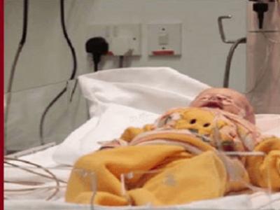 Hastaneye Getirilen Küçük Bebeğin..