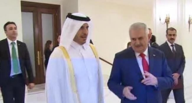 Katar Başbakanı Çankaya Köşkü'nde