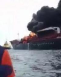 Dev Tanker Alevler İçinde