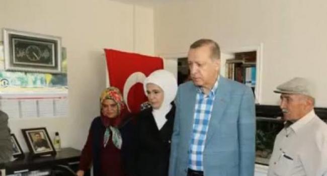Cumhurbaşkanı Erdoğan 15 Temmuz Şehit Ailesine Taziyede Bulundu