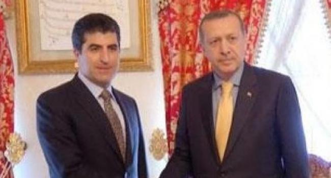 Cumhurbaşkanı Erdoğan IKBY Başbakanını Kabul Ediyor