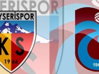 Kayserispor Trabzonspor Turgay Şeren Sezonu 13. Hafta