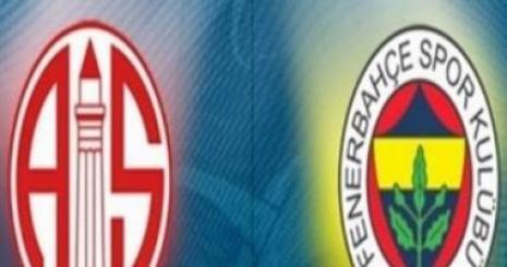 Antalyaspor Fenerbahçe Turgay Şeren Sezonu 14. Hafta