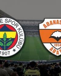 Fenerbahçe Adanaspor Turgay Şeren Sezonu 17. Hafta