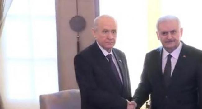 Başbakan Binali Yıldırım MHP Genel Başkanını Kabul Etti