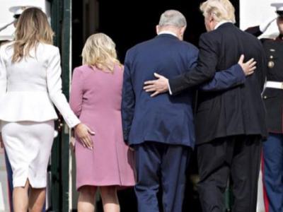 Melania Trump, Netanyahu'nun Kalçasına Dokundu