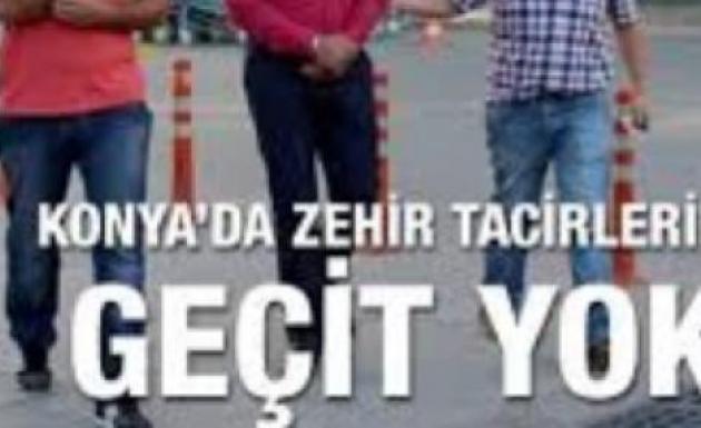 Konya'da Uyuşturucu Operasyonu 37 Kişi Gözaltına Alındı