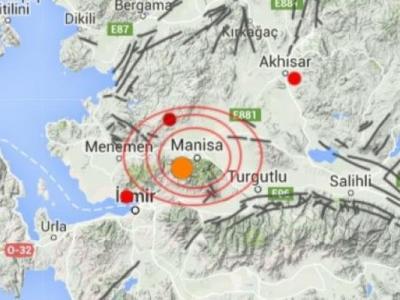 Manisa'da 4,9 Şiddetinde Deprem