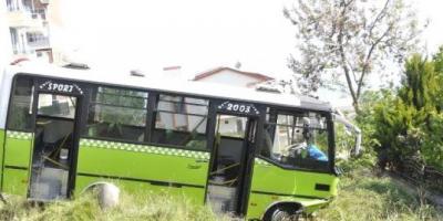 Özel Halk Otobüsü Şoförü Faciayı Önledi