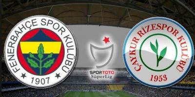 Fenerbahçe Ç.Rizespor Turgay Şeren Sezonu 29. Hafta