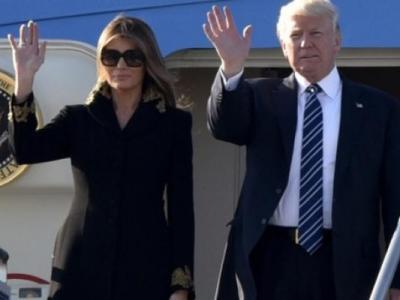 Melania Trump Eşinin Elini Tutmadı