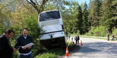 Yolcu Otobüsü Dere Yatağına Düştü