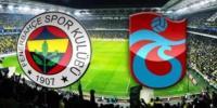 Fenerbahçe Trabzonspor Turgay Şeren Sezonu 33. Hafta