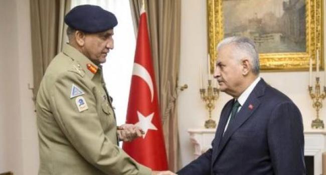 Başbakan Binali Yıldırım Pakistan Kara Kuvvetleri Komutanını Kabul Etti