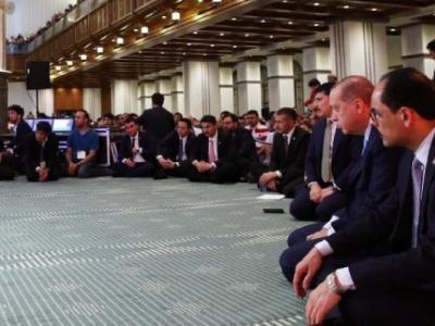 Cumhurbaşkanı Erdoğan Kadir Gecesi Millet Camii'nde