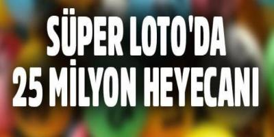 Süper Loto 25 Milyon Devretti 22 Haziran 2017