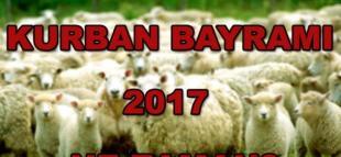 2017 Kurban Bayramı Ne Zaman Tatil Kaç Gün