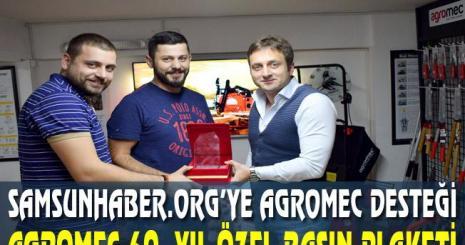 Agromec 60. Yıl Özel Basın Plaketi Samsun Haber Org Sitesine