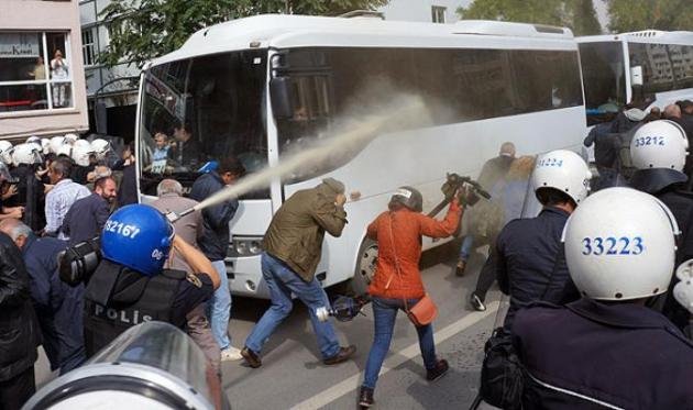Patlamayı protesto edenlere polis müdahalesi