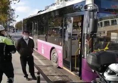 Coronalı şoför belediye otobüsü kullanırken yakalandı