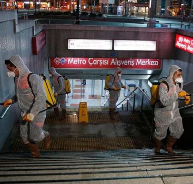 Metro ve Ankaray istasyonlarında 'virüs' temizliği